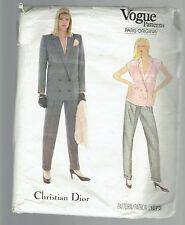VOGUE pattern 1073 pant suit blazer blouse Christian Dior Sz 16 Paris Original