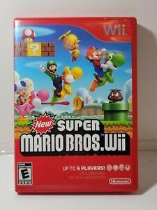 Super Mario Bros. Wii (Nintendo Wii, 2009) with Manual