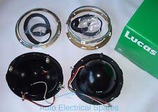 "Lucas PAIR 7"" Headlamp Headlight bowl & retaining rim METAL MGB Mini LAND ROVER"