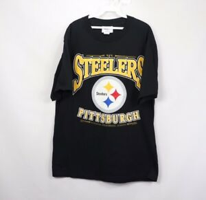 NOS Vintage 90s Mens Large Pittsburgh Steelers NFL Football Short Sleeve T Shirt