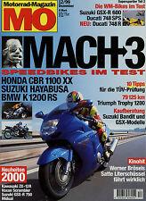 mo 12/99 1999 BMW K1200RS Honda CBR 1100 XX Suzuki Hayabusa Ducati 748 R Bandit