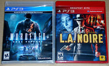 PS3 Game Lot - L.A. Noire (New) Murdered Soul Suspect (New)