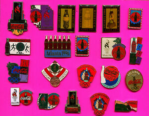1996 OLYMPIC PINS COCA COLA BOTTLE LOT #3 PICK A PIN 1-2-3- BUY ALL PINS 21 PINS