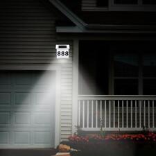 Solar Door Powered LED Lighting House Number Sign Plaque Outdoor Address Lamp