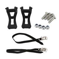 1 paire de Cale-pieds velo de route VTT velo + sangle pour pedales Noir U1O3