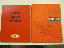 NEW Ford Capri 1970 Shop Manual 71 Supplement Repair Book Engine Electrical Fuel