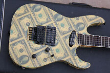 1988 ESP USA $100 Dollar Bills Custom Shop Mirage Deluxe Guitar Rare - OHSC