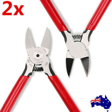 "2x 6"" Flush Cut Side Cutters Diagonal Cutting Pliers Plier Wire Cable Nippers AU"