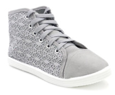 Tanggo 907 Glitter Design High Cut Women's Sneakers (Grey)