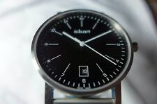 NIB A.B. Art Men Watch Model O104 with Sapphire Crystal, Swiss Made, MSRP $895