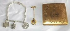 ABWA Vintage Compact Bracelet Charms Pin Vintage American Business Women's Assoc