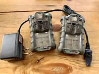 2 X MSA Altair 4X, 4 Head Multi-Gas Monitor Detector calibrated With CHARGER #1