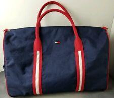 "Vintage Tommy Hilfiger Large Navy Blue Red Duffle Gym Travel Bag 20""x12""x10"""