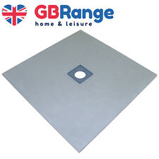 Wet Room Kit Walk in Shower Tray Base Drain Linear Round Floor Level 900x900mm