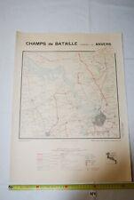 AF1 Carte - Champs de Bataille - Ed Perin - ANVERS - WW1 WW2 Planche 23