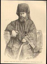 IMAGE 1881 PRINT GRAVURE POPE RUSSE CAUCASE RUSSIAN PRIEST CAUCASUS