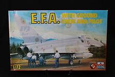 YA087 ESCI 1/72 maquette avion 9094 E.F.A With ground crew and pilot IT FR DE ES