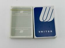 2 Vintage United Airlines Playing Card New