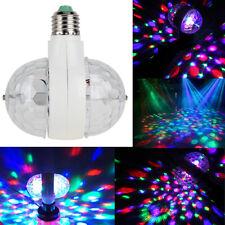 6W E27 RGB double boule de cristal tournant LED scène ampoules disco party lampe