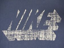 NIKE SWOOSH SHADED INTO 3-D LETTERING NAVY BLUE MEDIUM LOOSE FIT T-SHIRT W254