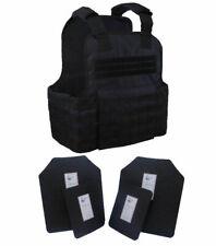 Tactical Scorpion Gear 4 Pc Level Iii Ar500 Body Armor Plates Molle Vest Set Up