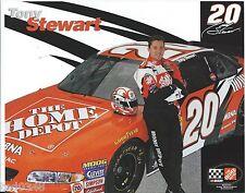 "2002 TONY STEWART #20 HOME DEPOT ""WINSTON CUP"" POSTCARD!"