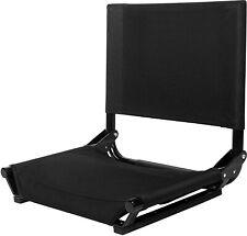 Cascade Mountain Tech Portable Folding Steel Stadium Seats for Bleachers Black