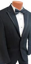 Men's Black Calvin Klein Arden Tuxedo Jacket with Pants Cummerbund & Bow Tie