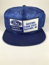 K Brand Ford Tractors Equipment All Mesh Hat Blue Snap Adjustable Ravenna Mi