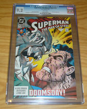 Superman: the Man of Steel #19 CGC 9.2 early doomsday cover - dc comics 1993 1st