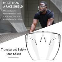 1/2pcs Face Shield Protective Face Cover Transparent Glasses Visor Anti-Fog