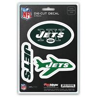 New York Jets Decals Die-Cut Auto Multi-use Stickers 3-Pack