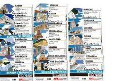 SERIE COMPLETA LINEE D'ITALIA 22 SCHEDE TELEFONICHE USATE DA GOLDEN 725  A 746