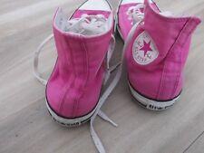 Pink Hi Top Ladies Converse UK 8 All Star Converse Trainers Baseball Boots VGC