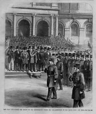 NEW YORK CITY METROPOLITAN POLICE PARADE REVIEW INSPECTION BY MAYOR CITY HALL