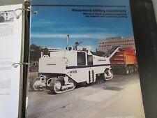 Ingersoll-Rand Pavement Milling Machinery Literature
