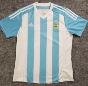 Adidas Argentina AFA Soccer Climacool Jersey Men's Large White Blue Striped