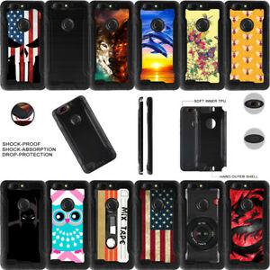 For ZTE Sequoia   Blade ZMAX   Zmax Pro Z982 Brush Metal Finish Dual Layer Case