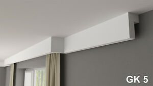 Curtain rod rail cover COVING cornice GK5 XPS lightweight MANY SIZES 2M LONG