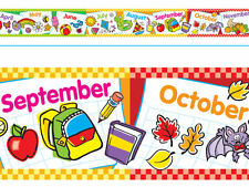 Months of the Year Bolder Borders® Classroom Notice Board Display Borders
