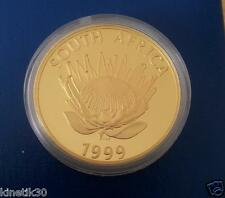 1999 Protea - The Miner 1oz gold proof coin 24K South Africa 500 mintage RARE