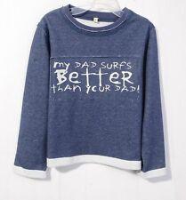 100% cotton boy long sleeve T-shirt ivory blue 4T 5T 6T 7T Melbourne