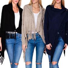 Damen-Pullover & Mittel aus Wolle mit Hüftlang und Knöpfe