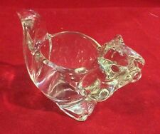 Avon Antique Vintage Glass Squirrel Candle Holder