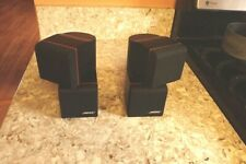 Pair (2) BOSE Redline Black Double Dual Cube Satellite Speakers Acoustimass NICE