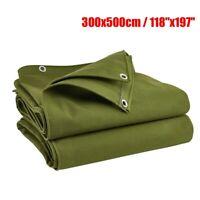 Tela Cerata Resistente Militare Verde Impermeabile Antipolvere Cover 3 x 5 M