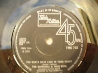 SUPREMES FOUR TOPS YOU GOTTA HAVE LOVE IN YOUR HEART motown. Northern soul 45rpm