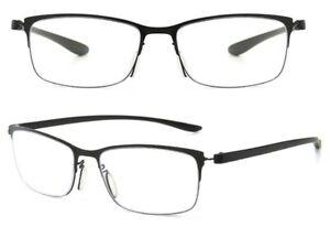 Blue Light Blocking Prescription Reading Glasses Designer Black Frame