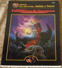AD&D- OPZIONI DEL GIOCATORE: Abilità e Poteri - NUOVO-D&D-DUNGEONS&DRAGONS-25 ED