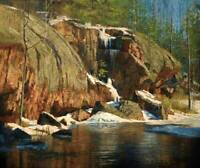 """The Rock Gorge"" - Original Oil Painting by Canadian Artist Chris Morton"
